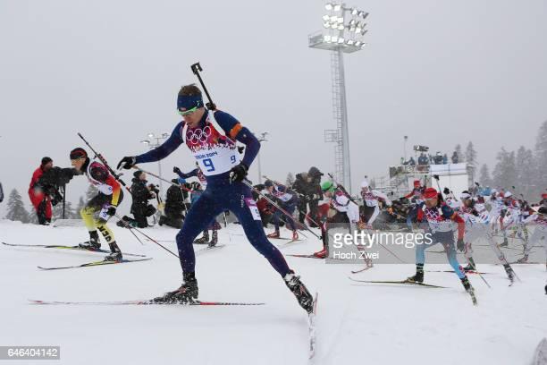 The XXII Winter Olympic Games 2014 in Sotchi Olympics Olympische Winterspiele Sotschi 2014 Men's 15km Mass Start Biathlon Emil Hegle Svendsen / NOR