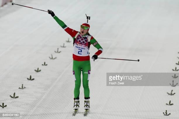 The XXII Winter Olympic Games 2014 in Sotchi Olympics Olympische Winterspiele Sotschi 2014 Women's 125km Mass Start Biathlon Darya Domracheva / SVK