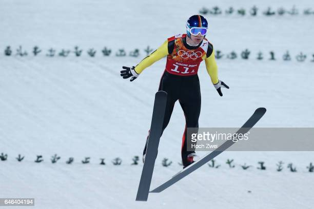 The XXII Winter Olympic Games 2014 in Sotchi Olympics Olympische Winterspiele Sotschi 2014 Men's Team Ski Jumping Andreas Wank / GER Germany...