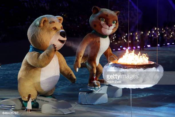 The XXII Winter Olympic Games 2014 in Sotchi Olympics Olympische Winterspiele Sotschi 2014 Closing Ceremony