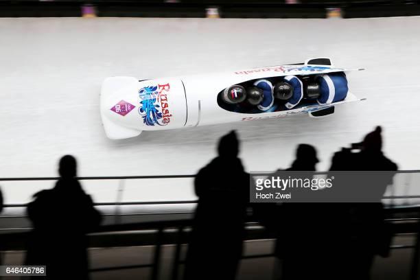 The XXII Winter Olympic Games 2014 in Sotchi Olympics Olympische Winterspiele Sotschi 2014 Fourman Bobsleigh Heat 2 Alexander Kasjanov Ilvir Huzin...