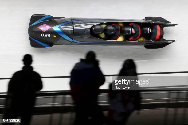 The XXII Winter Olympic Games 2014 in Sotchi Olympics Olympische Winterspiele Sotschi 2014 Fourman Bobsleigh Heat 2 Thomas Florschuetz Joshua Bluhm...