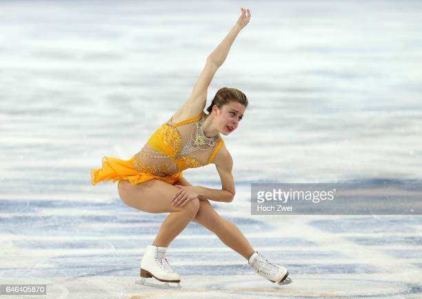 The XXII Winter Olympic Games 2014 in Sotchi Olympics Olympische Winterspiele Sotschi 2014 Ashley Wagner performs her free skating program during the...