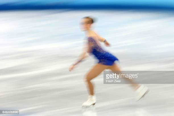 The XXII Winter Olympic Games 2014 in Sotchi Olympics Olympische Winterspiele Sotschi 2014 Nathalie Weinzierl of Germany performs her free skating...