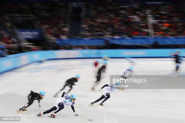 The XXII Winter Olympic Games 2014 in Sotchi Olympics Olympische Winterspiele Sotschi 2014 Men's 5000m Relay Short Track Final Ruslan Zakharov / RUS