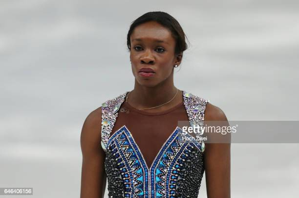 The XXII Winter Olympic Games 2014 in Sotchi Olympics Olympische Winterspiele Sotschi 2014 Mae Berenice Meite performs her free skating program...