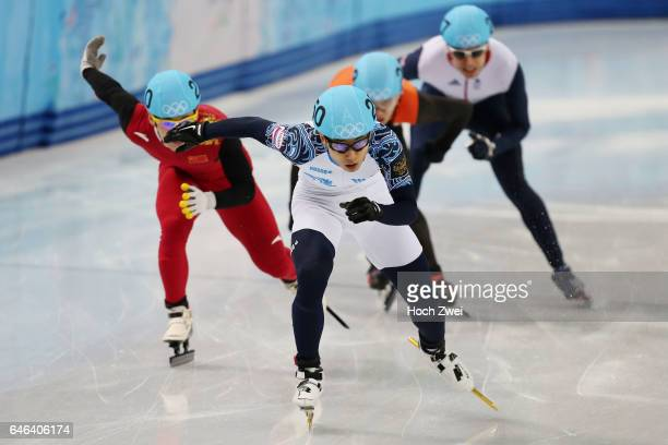 The XXII Winter Olympic Games 2014 in Sotchi Olympics Olympische Winterspiele Sotschi 2014 Men's 5000m Relay Short Track Final Victor An / RUS