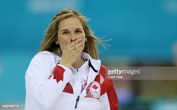 The XXII Winter Olympic Games 2014 in Sotchi Olympics Olympische Winterspiele Sotschi 2014 Sochi Krasnodar Krai Russia Canada skip Jennifer JONES...