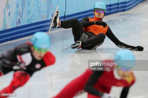 The XXII Winter Olympic Games 2014 in Sotchi Olympics Olympische Winterspiele Sotschi 2014 Men's 500m Querterfinals Short Track Freek Van Der Wart /...