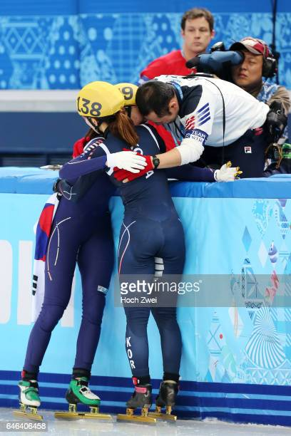 The XXII Winter Olympic Games 2014 in Sotchi Olympics Olympische Winterspiele Sotschi 2014 Ladie's 1000m Short Track Finals Seung Hi Park / KOR