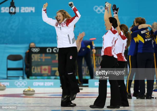 The XXII Winter Olympic Games 2014 in Sotchi Olympics Olympische Winterspiele Sotschi 2014 Sochi Krasnodar Krai Russia Canada skip Jennifer JONES and...