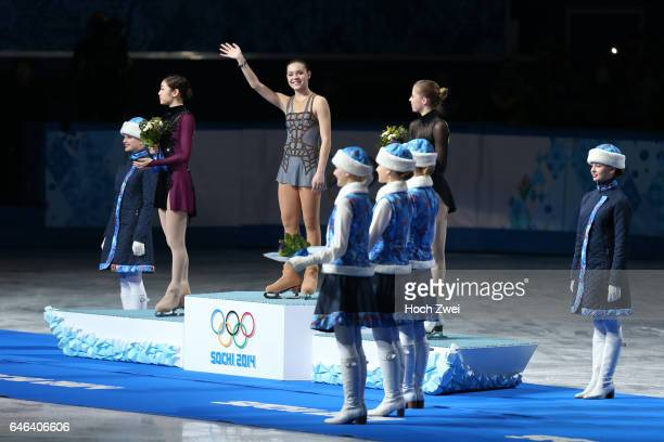 The XXII Winter Olympic Games 2014 in Sotchi Olympics Olympische Winterspiele Sotschi 2014 Medalists in the women's figure skating competition at the...