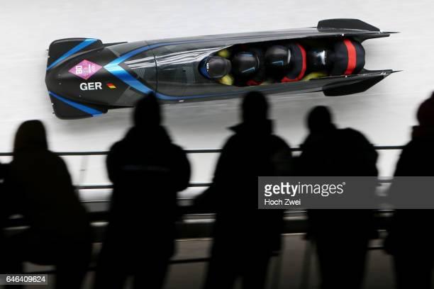 The XXII Winter Olympic Games 2014 in Sotchi Olympics Olympische Winterspiele Sotschi 2014 Fourman Bobsleigh Heat 2 Francesco Friedrich Jannis...