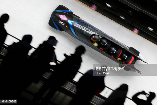 The XXII Winter Olympic Games 2014 in Sotchi Olympics Olympische Winterspiele Sotschi 2014 Fourman Bobsleigh Heat 2 Maximilian Arndt Marko...