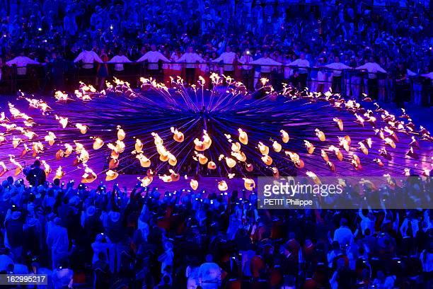 The Xxxth Summer Olympic Games In London 2012: Opening Ceremony. La cérémonie d'ouverture des 30èmes Jeux olympiques d'été de LONDRES 2012 : les sept...