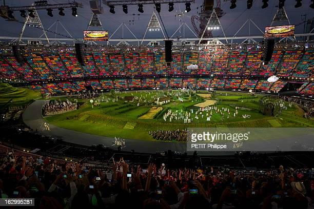 The Xxxth Summer Olympic Games In London 2012: Opening Ceremony. La cérémonie d'ouverture des 30èmes Jeux olympiques d'été de LONDRES 2012 au stade...