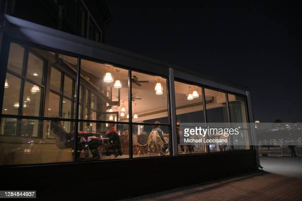 The Yacht Club is prepared for indoor and outdoor dining on November 09, 2020 in Edgewater, New Jersey. New Jersey Gov. Phil Murphy announced today...