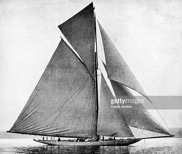 The yacht Valkyrie III which lost the America's Cup sailing race 1895