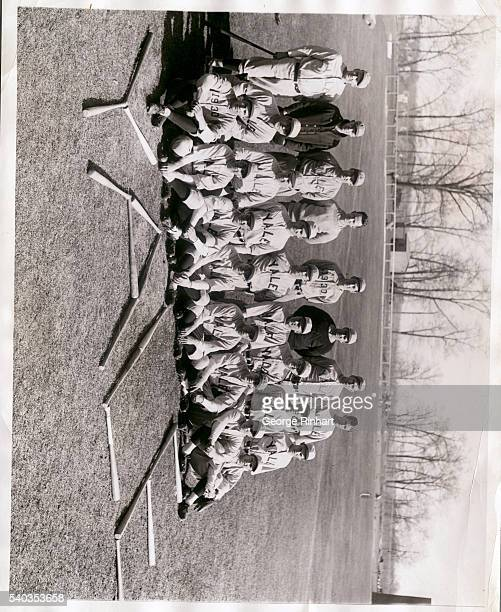 The Yale baseball team for which great things are predicted this coming season Left to right front row Schwarzburh Brown Hammersley Grove Vaugh Smith...