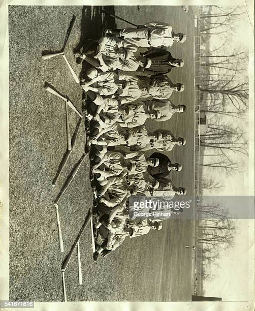 The Yale baseball team for which great things are predicted this coming season Left to right front row Schwartzburg Brown Hammersley Grove Vaughn...