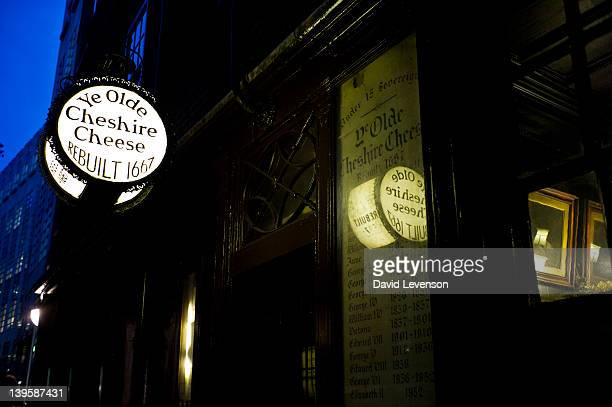 The Ye Olde Cheshire Cheese pub in Fleet Street on January 62012 in LondonEngland Charles Dickens drank regularly at Ye Olde Cheshire Cheese whilst...