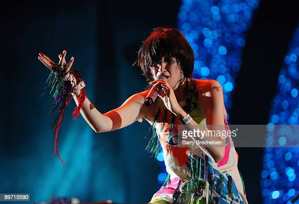 The Yeah Yeah Yeahs perform during the 2009 Lollapalooza music festival at Grant Park on August 8, 2009 in Chicago, Illinois.