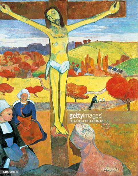 The Yellow Christ by Paul Gauguin oil on canvas 925x73 cm Buffalo AlbrightKnox Art Gallery