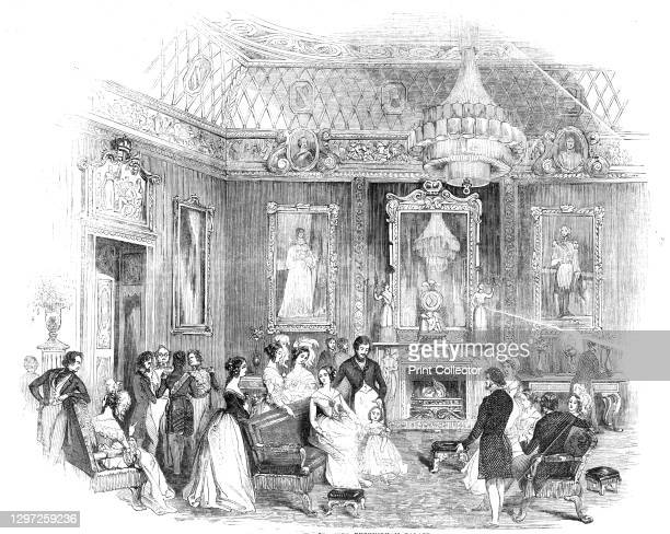 The Yellow Drawing-Room, Buckingham Palace, 1844. Interior of the London residence of the British royal family: 'the most superb of the entire range...
