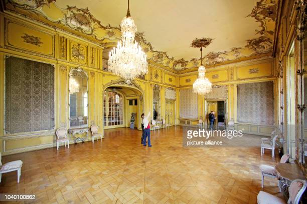 The yellow room of Schloss Waldenburg palace, in Waldenburg, Germany, 29 April 2015. Since 2005, 8.5 million euro has been spent on restoring the...