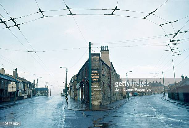 The York County Savings Bank on the corner of Wakefield Road and Mulcott Road in Halifax West Yorkshire circa 1964