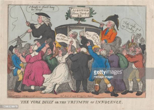 The York Dilly or The Triumph of Innocence February 26 1809 Artist Thomas Rowlandson