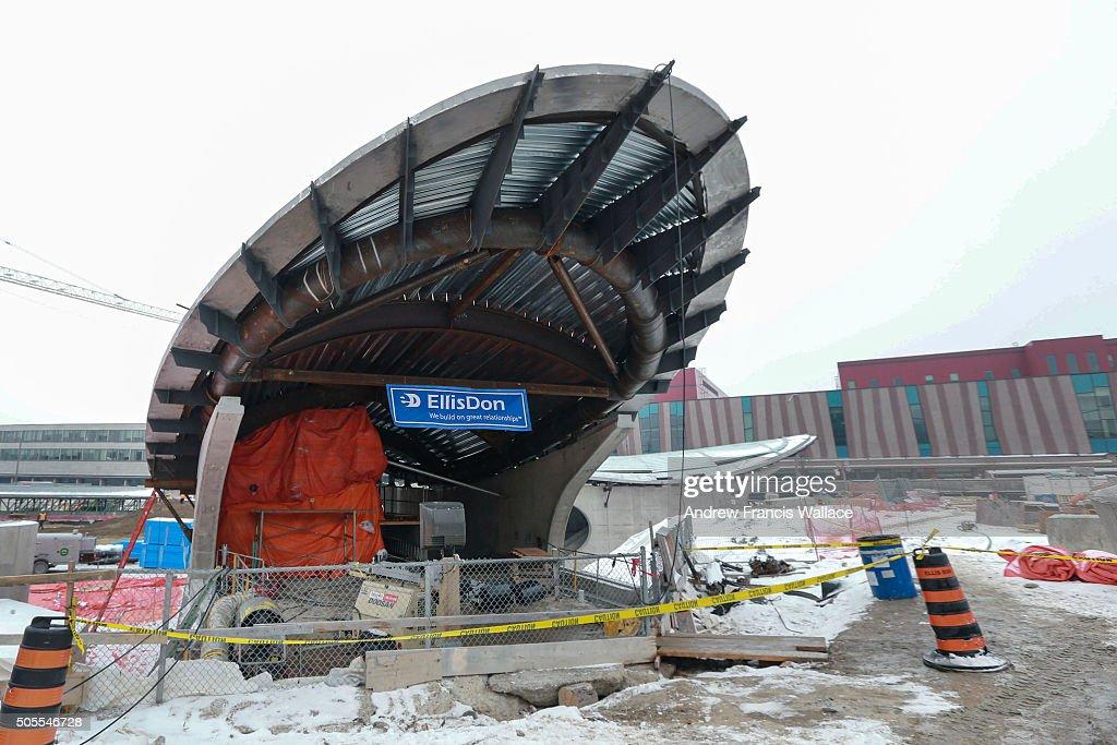 TORONTO, ON - JANUARY 15 - The York University subway stop