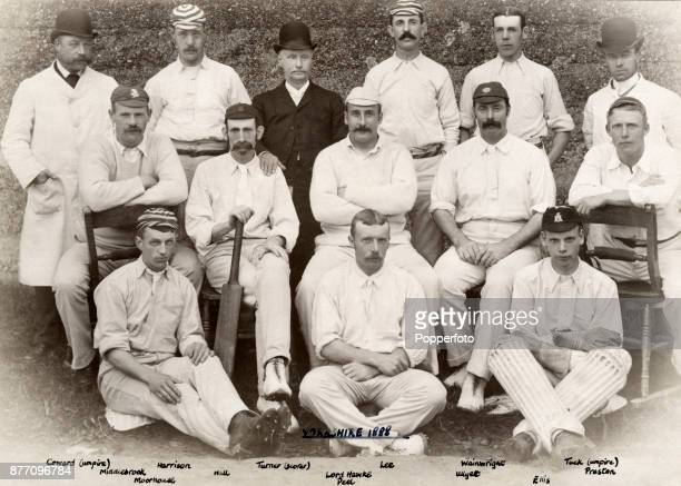 The Yorkshire County Cricket team circa 1888 Left to right back row Coward George Harrison Turner Frederick Lee Ted Wainwright and Tuck middle row...