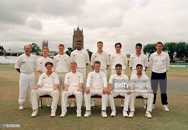 The Yound England team pictured prior to the 1st Youth Test match against Young South Africa at Taunton on the 23rd July 1995 The team was captained...