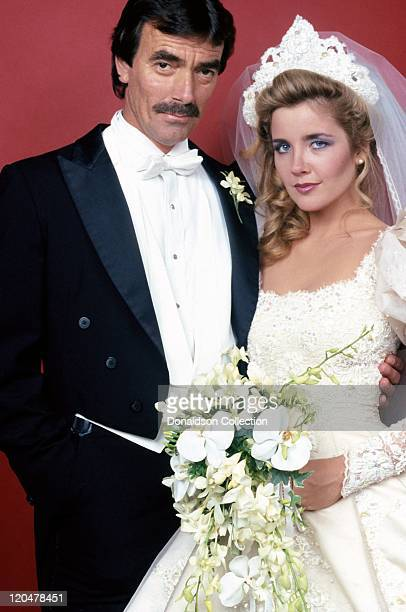 The Young And The Restless actors Eric Braeden and Melody Thomas pose for a portrait in 1992 in Los Angeles California