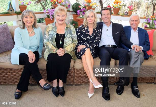 The Young and the Restless actors Marla Adams Beth Maitland Eileen Davidson Peter Bergman and Jerry Douglas visit Hallmark's Home Family at Universal...