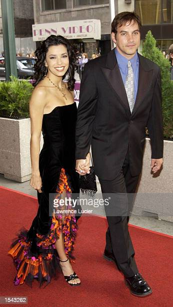 ''The Young and the Restless'' actress Eva Longoria and husband Tyler Christopher arrive on May 17 2002 for the 29th Annual Daytime Emmy Awards at...