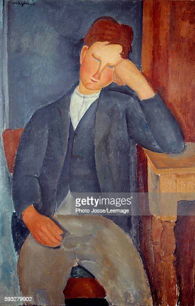 The young apprentice. Painting by Amedeo Modigliani , 1917. 1 x 0, 65m. Orangerie Museum, Paris