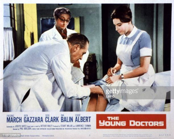 The Young Doctors poster Poster Art Fredric March Dick Clark Ina Balin Aline MacMahon 1961
