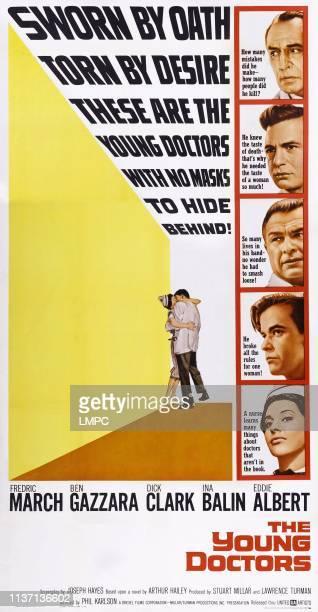 The Young Doctors poster US poster art from top Fredric March Ben Gazzara Eddie Albert Dick Clark Ina Balin 1961