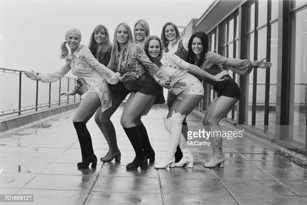 The Young Generation dance troupe UK 26th November 1971 From left to right Kay Frazer Denise Fone Terry Robinson Di Palmer Karen Knight Kay Korda and...