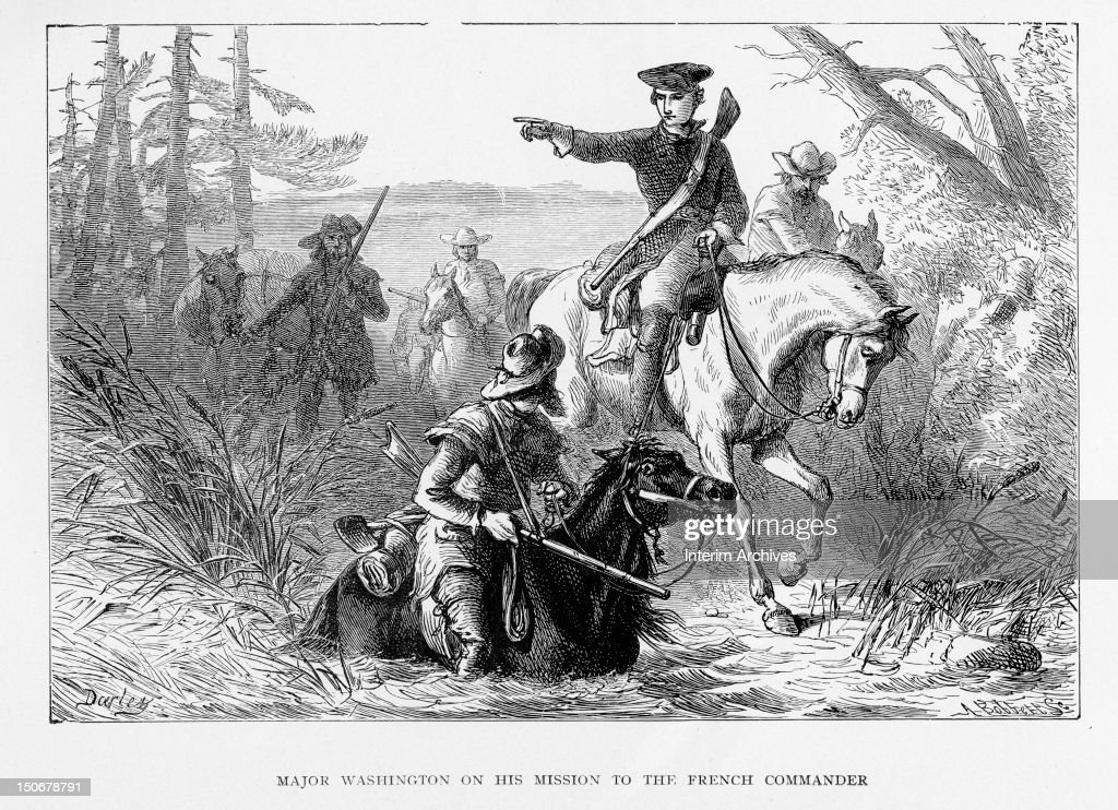 Major Washington On A Mission To The French Commander : News Photo