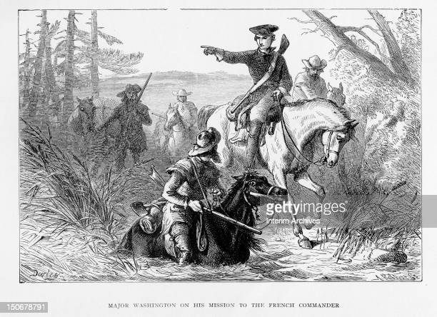 The young George Washington traverses difficult Ohio country having been sent by Governor Dinwiddie on a mission to warn the French commander against...
