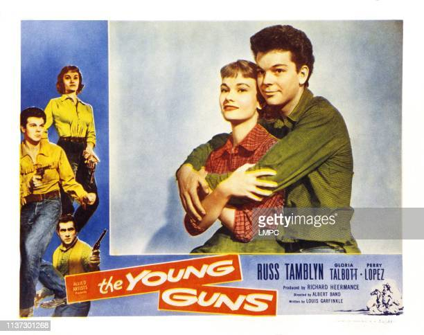 The Young Guns US lobbycard left from top Gloria Talbott Russ Tamblyn Perry Lopez center from left Gloria Talbott Russ Tamblyn 1956