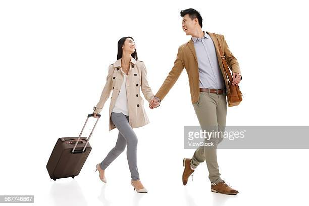 The young lovers happy travel