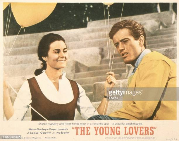 The Young Lovers US lobbycard from left Sharon Hugueny Peter Fonda 1964