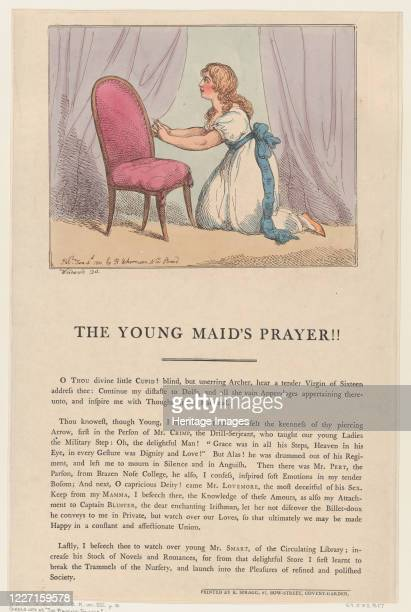 The Young Maid's Prayer June 4 1801 Artist Thomas Rowlandson