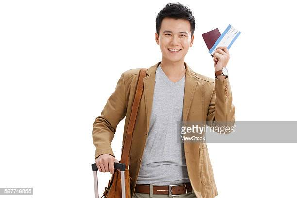 The young man took the passport ready to travel