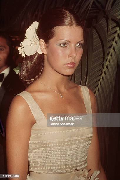 The young Princess Caroline of Monaco attends the 1974 Red Cross Ball