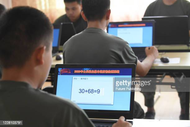 The young recruits were tested psychologically at the militia training base. Guiyang City, Guizhou Province, China, Guiyang City, Guizhou Province,...